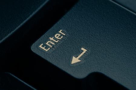dark grey keyboard empty black enter button. Stock Photo