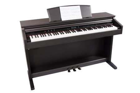 hymnal: stylish piano on a white background Stock Photo