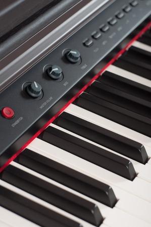 hymnal: close-up of piano keys