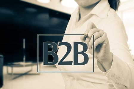 chosen: Hand pointing to businesswoman icon - HR, recruitment and chosen concept.