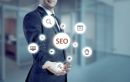 selecting: Search optimization business pointing finnger selecting seo.