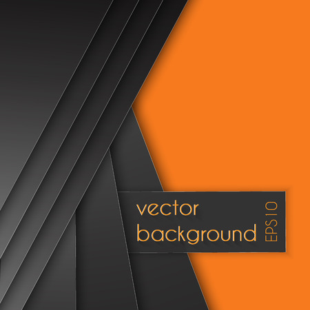 Orange paper background on overlap grey texture and pattern dimension grey vector illustration message board for text and message design modern website Ilustrace