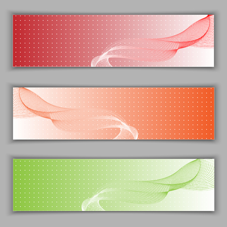 opacity: Set banners. illustration. Used opacity mask and transparency layers of background. Illustration