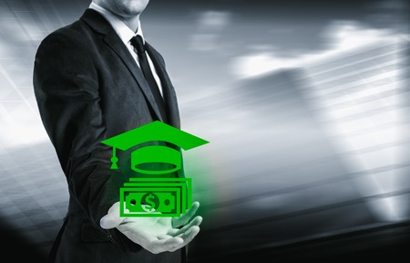 obtaining: The business concept of obtaining success through training. Stock Photo