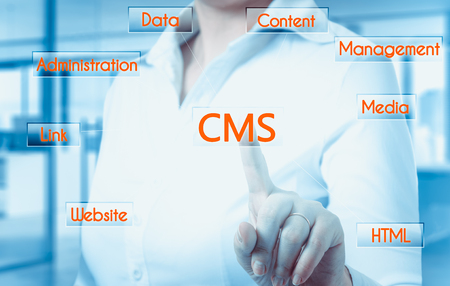 management system: The concept of cms content management system website administration.