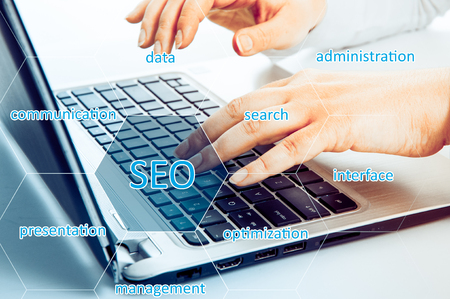 resilience: SEO optimization. The concept of quick success. Confidence and resilience Stock Photo
