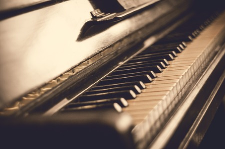 pianoforte: Part of the old piano in vintage style
