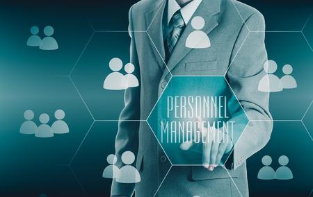personnel: Human resources, HR, CRM. Concept personnel management Stock Photo
