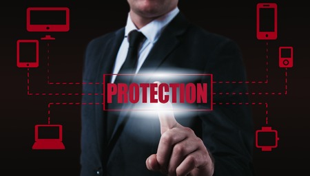 company secrets: Protect cloud information data concept. Security and safety of cloud data.