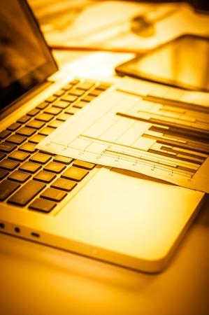improving: Advertising Commercial Promotion Digital Marketing Concept. Improving statistics. Stock Photo
