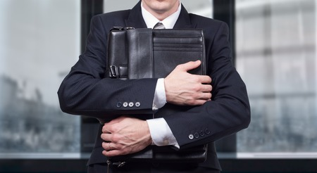 fiasco: Concept of a stressed businessman under pressure. Fear of job loss. Stock Photo