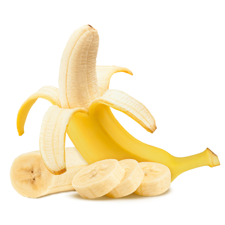 Banana. Ripe bananas isolated on a white background