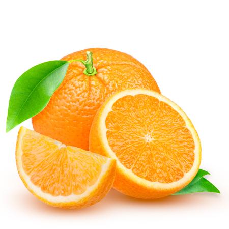 fresh orange isolated on white background Stock Photo