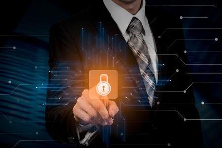 Cyber Security Data Protection Business Technology Privacy concept. Reklamní fotografie