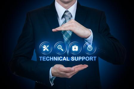 Technical Support Customer Service Business Technology Internet Concept. Reklamní fotografie