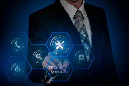 Technical Support Customer Service Business Technology Internet Concept Reklamní fotografie