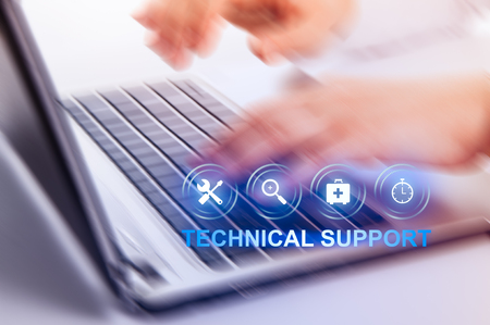 Technical Support Customer Service Business Technology Internet Concept. 스톡 콘텐츠