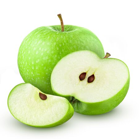 Green apple. Isolated on white background