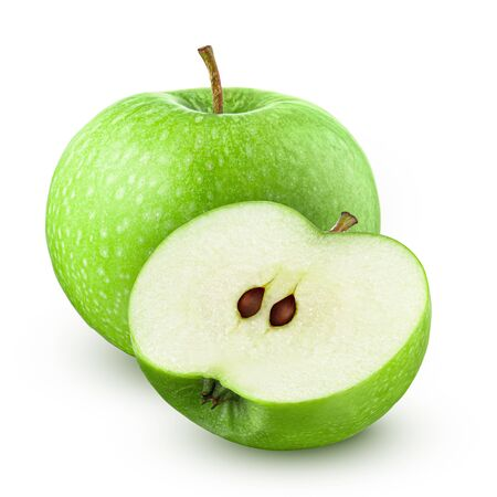 Green apple Isolated on white background 스톡 콘텐츠