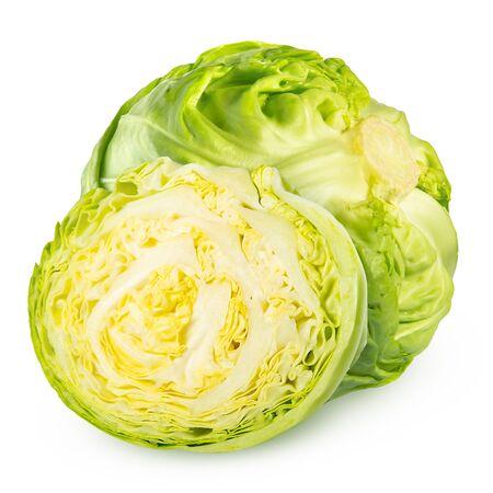 cabbage isolated on white background.