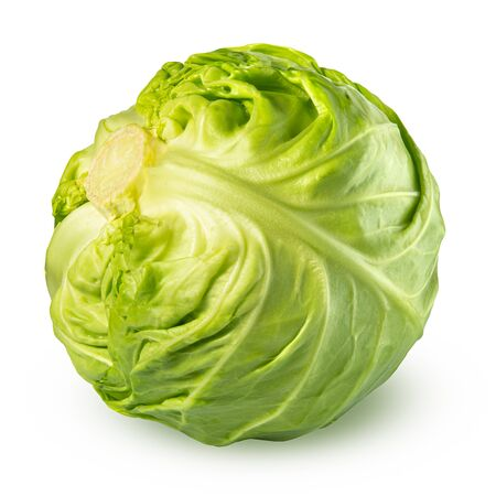 cabbage isolated on white background. Foto de archivo