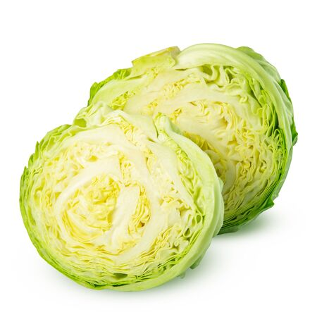 Cabbage isolated on white 스톡 콘텐츠
