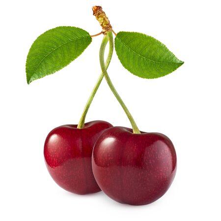 Cherry isolated on white background Imagens