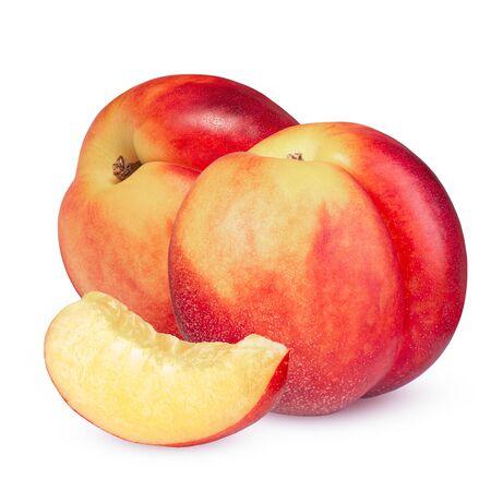 Nectarine fruit isolated on white background cutout. Imagens