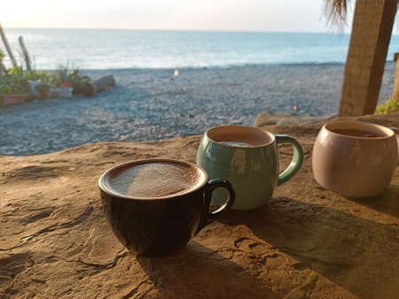 Sunset, mug, coffee, drink, tea, leisurely, afternoon tea, time