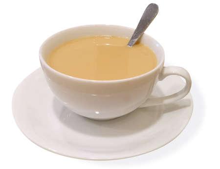 Breakfast, tea, coffee, cup, milk tea, delicious, beverage, milk, drink, stir