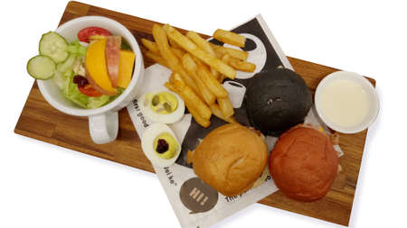 Breakfast, fruit, bread, french fries, hearty, plate, egg, sauce, seasoning, nutrition, sandwich, burger