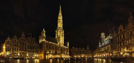 belgique: Grand Place de Bruxelles Editorial