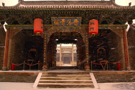 ancient chinese architecture under snow Editorial