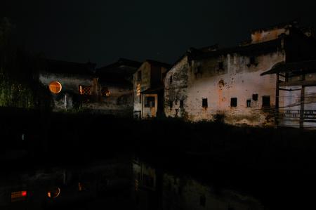 Ancient town at night