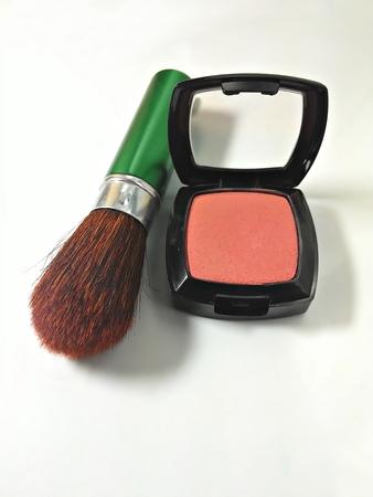 blush: Blush and make-up brush set Stock Photo