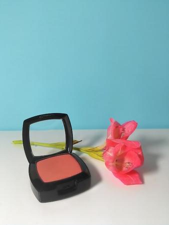 blush: Cosmetic blush