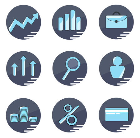icons business: Business icons set Illustration