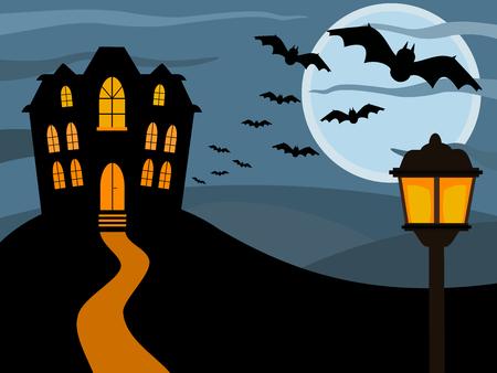 building house: Halloween haunted house