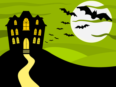 halloween background: Halloween green background