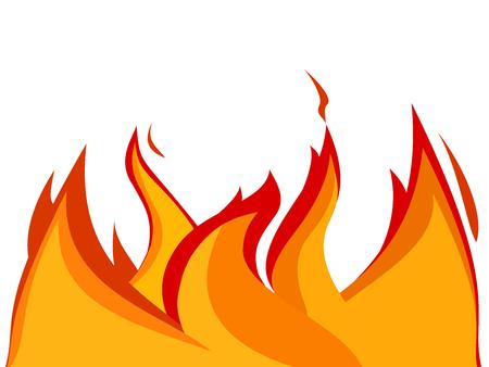 flames background: Fire flames Illustration