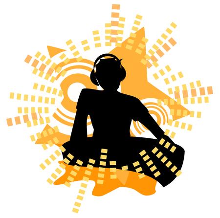 illustration: DJ illustration Illustration