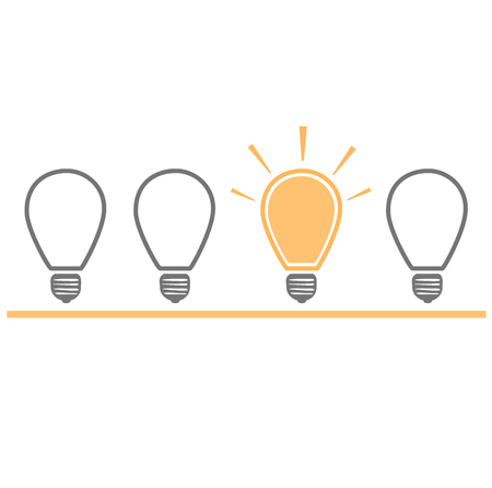 idea: Light bulb idea Illustration
