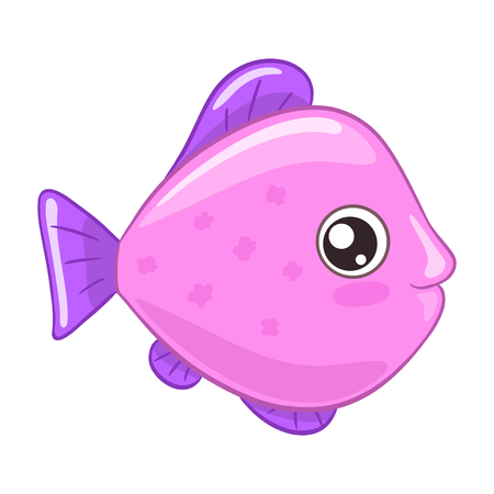 Little exotic fish on white background.