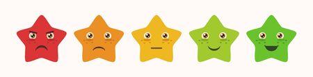 Feedback stars emoticon collection