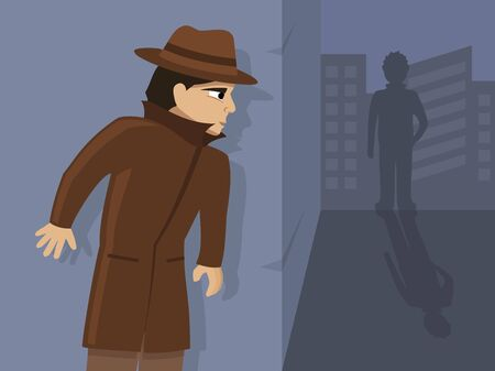 Detective is on the case, vector illustration. Illustration