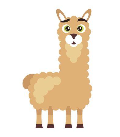 Silly lama cartoon character