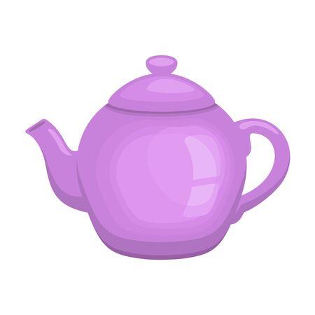 Decorative teapot isolated on white background. Ilustracja