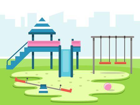 Kids playground vector illustration Ilustracja