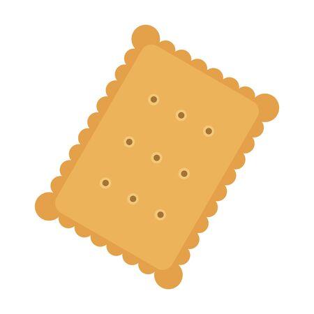 Tasty biscuit, flat style vector illustration. Ilustracja