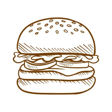 Tasty burger illustration.